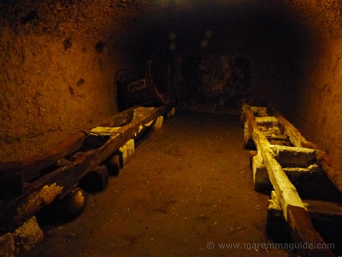 Deep underneath Sorano in the tufa cellars.