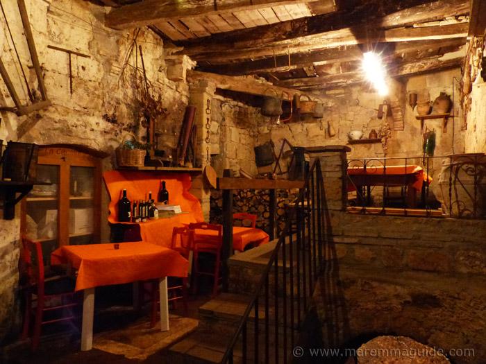 Sorano wine cellar festival in Tuscany