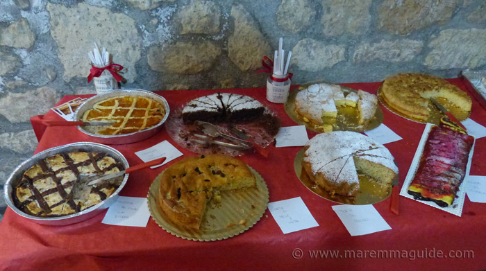 Home-made cakes in Tuscany.