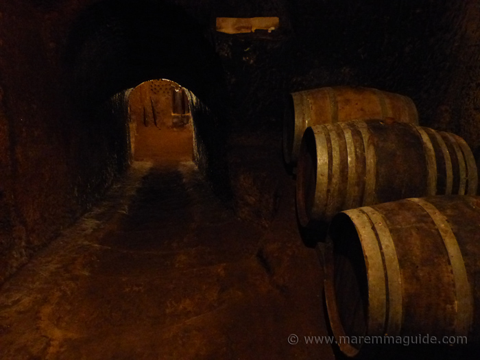 The ancient underground wine cellars of Sorano.