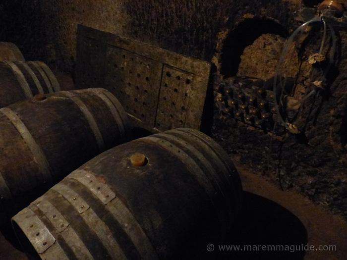 Sorano wine cellar Tuscany Italy.