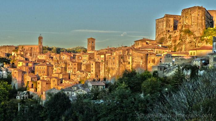 Sorano in Maremma Tuscany Italy.