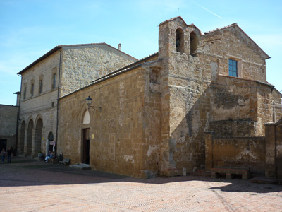 The middle ages church of Santa Maria Maggiore, Sovana, Maremma Tuscany Italy