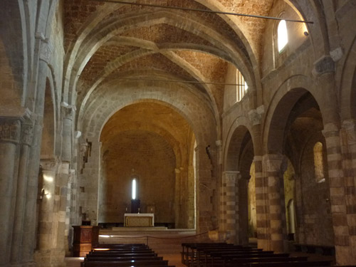 Cathedrals of the middle ages: Sovana Il Duomo San Pietro Maremma Tuscany Italy