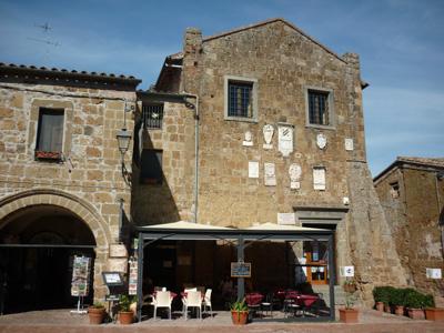 Sovana Palazzo del Pretorio & the Loggia del Capitano Maremma Tuscany Italy