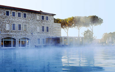 Spa Saturnia: thermal baths of Saturnia, Maremma Italy