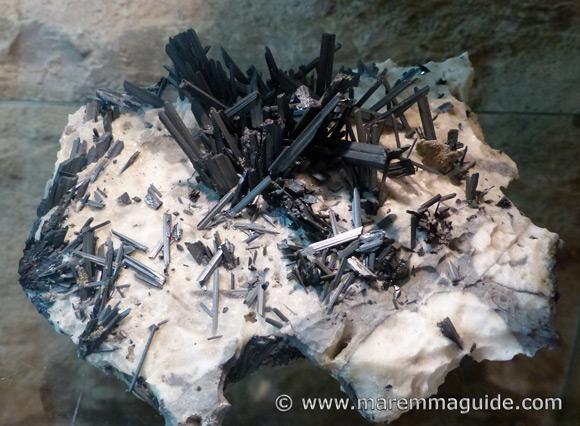 The hydrothermal Stibnite mineral - Antimonite sulphide