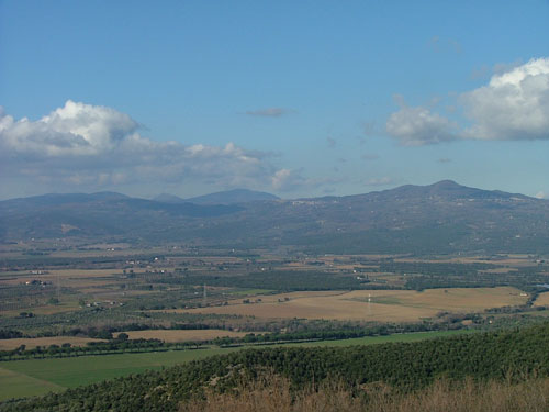 Panoramic view towards Roccastrada from Sticciano