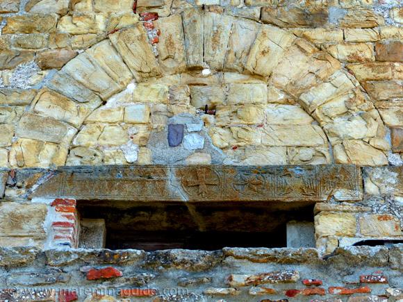 Knights Templar cross in Sticciano Tuscany Italy
