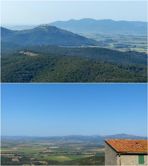 Panoramic views from Sticciano in Maremma Tuscany Italy