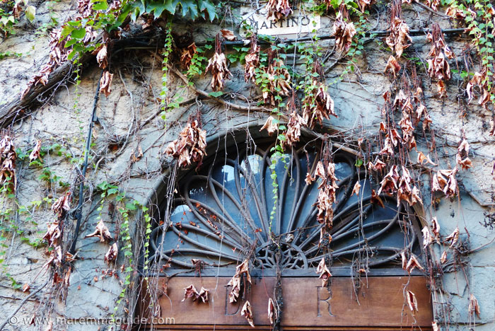 Detail of Tuscany door in Suvereto.