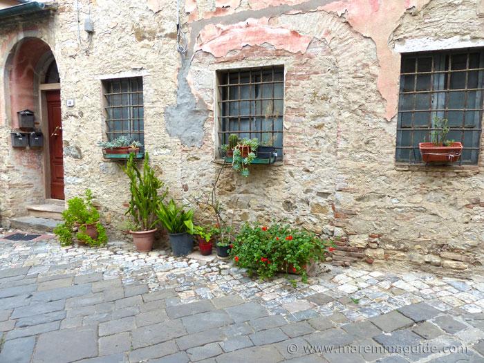 Street garden in Suvereto.