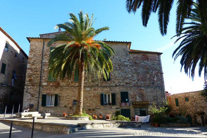 Piazza Dannunzio Suvereto Tuscany.