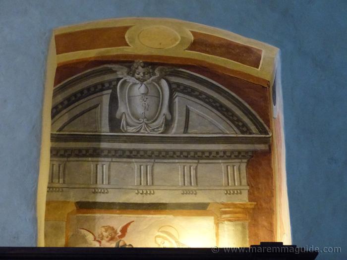 Fresco in Pieve di San Giusto, Suvereto.