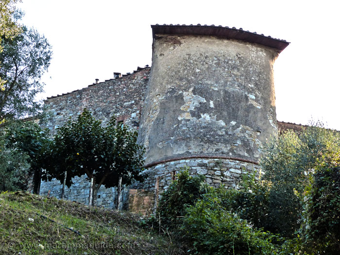 Suvereto: medieval tower in city walls.