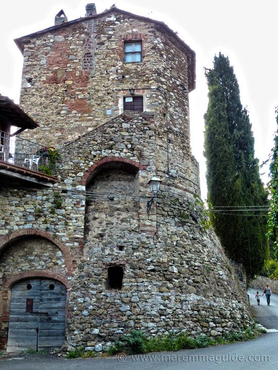 Suvereto Tuscany Italy: medieval tower.