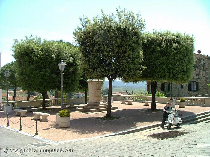 Piazza in Suvereto Tuscany.