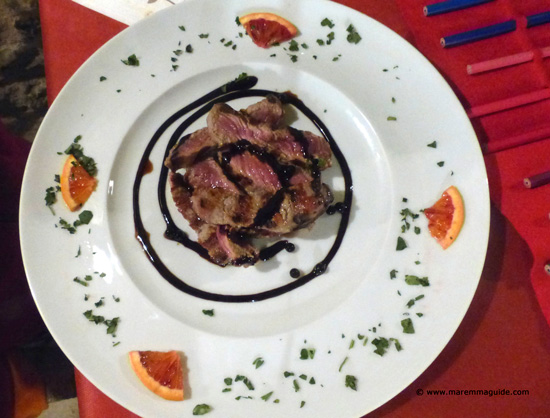 Tagliata all'Aceto Balsamico - Tuscan grilled steak with balsamic vinegar