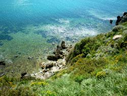 Talamone beach: a public cove