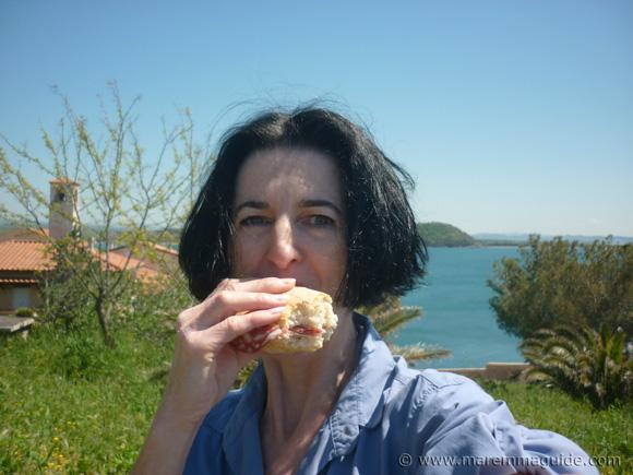 Picnic lunch at Talamone Tuscany