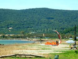 Talamone windsurfing and kitesurfing beach Maremma Tuscany