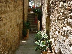 Two medieval passageways in Tatti, Maremma Italy