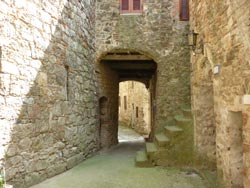 Medieval street in Tatti Maremma Italy