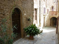 Middle ages street in Tatti Maremma Italy