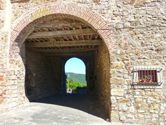 Tatti castle entrance Tuscany