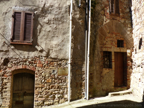 Medieval homes in Tuscany Italy.