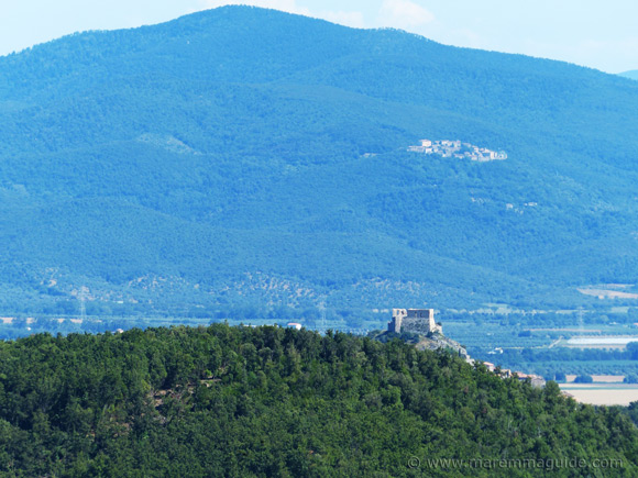 View to Montemassi castle and Sticciano from Tatti