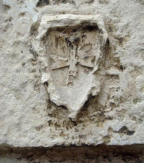 Templar cross at La Rochelle France