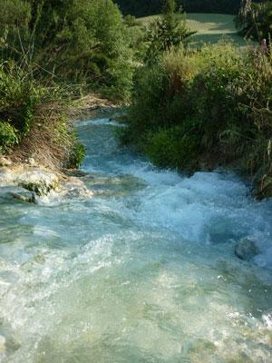 Terme di Saturnia park thermal springs, Maremma Tuscany Italy