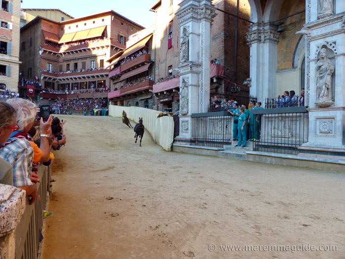 The Curva di San Martino of the Palio di Siena.