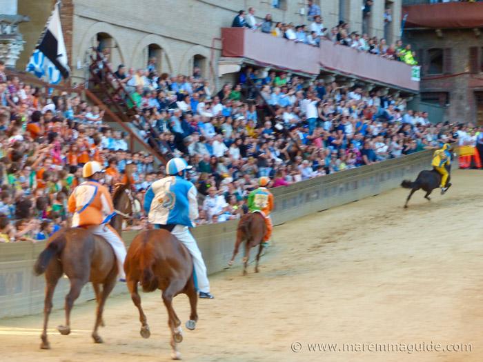 The Palio races of Siena.