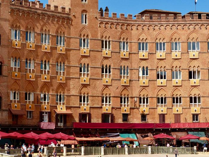Palio di Siena seats.