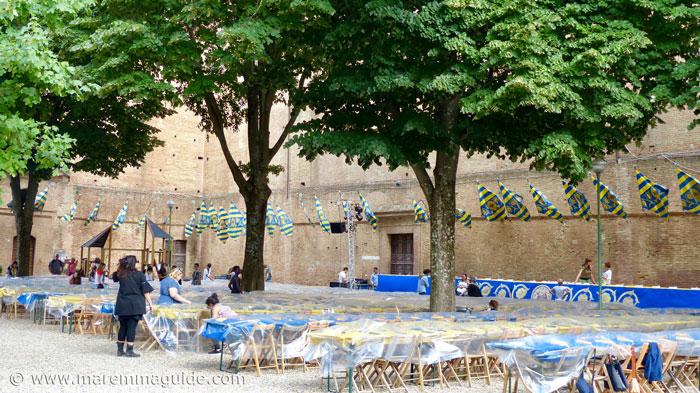 Siena Palio dinner location.