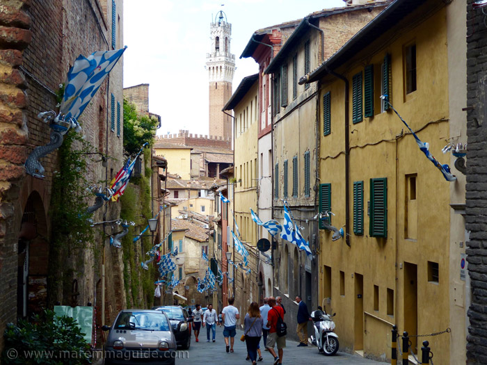 The streets of Siena on Palio day.