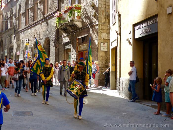 Costumed procession Palio di Siena.