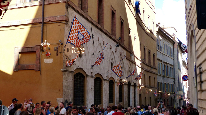 Leocorno territory in the streets of Siena.