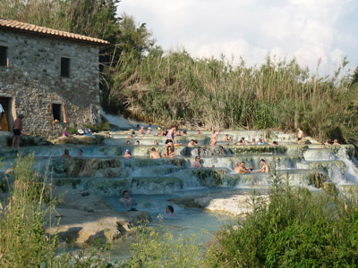 Thermal baths of Saturnia Maremma Tuscany Italy