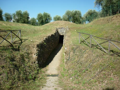 Etruscan tomb found in Vetulonia, Tuscany Maremma Italy