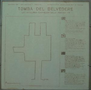 Tomba del Belvedere diagram