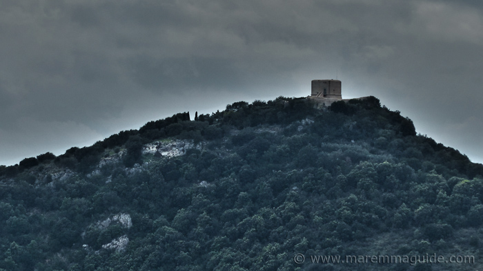 The watch tower of Torre Avvolotore in Monte Argentario Tuscany Italy.