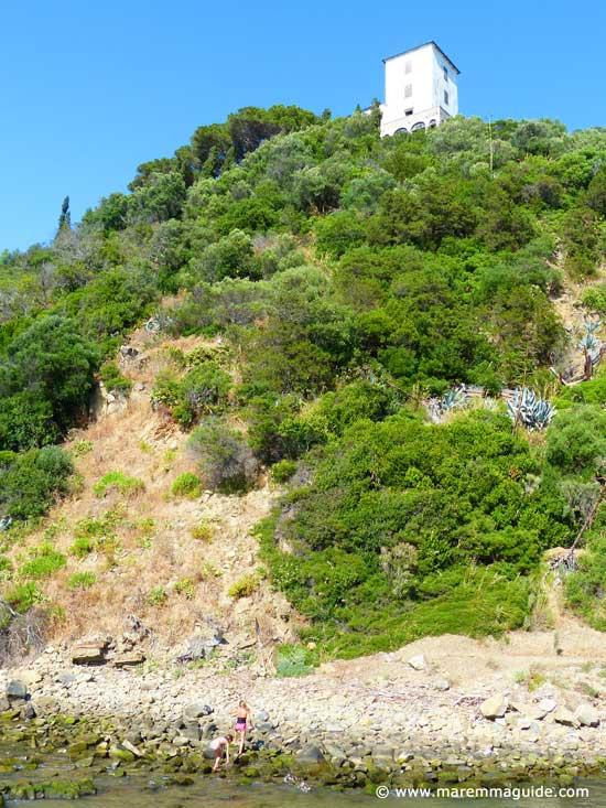 Medieval coastal towers: Torre Civette Maremma Tuscany