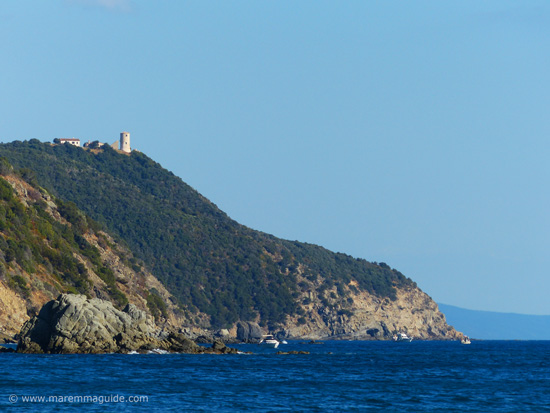 Torre di Cala Galera: the tower of Galera cove, Maremma Tuscany