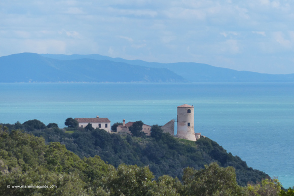 Torre di Cala Galera look-out tower Maremma Tuscany coast