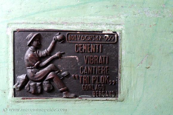 Tuscan wine tank detail