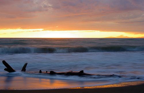 Tuscany Beaches in Maremma sunset photo: Tramonto a Principina