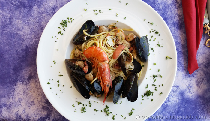 Tuscany beach restaurant: Spaghetti alle Scoglio